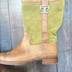 Tory Burch Shoes - Tory Burch size 10 suede and leather boot.